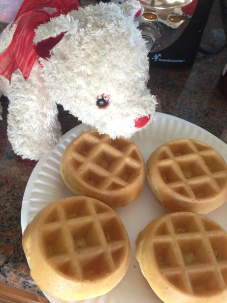 Bear sized waffles!